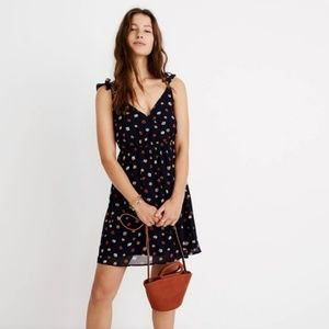 Madewell Navy Floral Wrap Dress